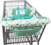 Nuby Shopping Cart Cover And High Chair Cover - Green/Blue