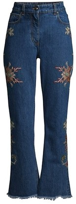 Etro Floral Embroidered Bootcut Jeans