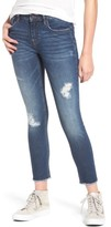 Vigoss Women's Whatever Distressed Ankle Skinny Jeans