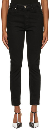 Gold Sign Black The High-Rise Slim Jeans