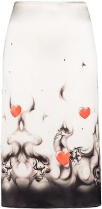 Ashley Williams Printed Hem Slip Skirt
