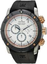 Edox Men's 10221 357R BINR Chronoffshore-1 Analog Display Swiss Quartz Black Watch