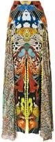 Roberto Cavalli butterfly print long skirt