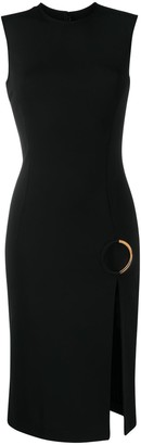 Versace O-ring sleeveless dress