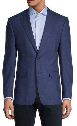 Calvin Klein Slim-Fit Textured Wool-Blend Jacket