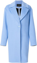 Cédric Charlier single breasted coat - women - Polyamide/Polyester/Viscose/Wool - 38