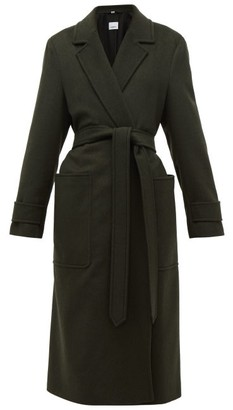 Burberry Sherringham Belted Cashmere Coat - Womens - Dark Green