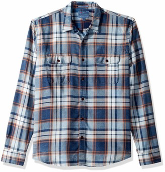 Lucky Brand Men's Casual Long Sleeve Plaid Workwear Button Down Shirt