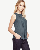 Ann Taylor Petite Geo Pintucked Shell
