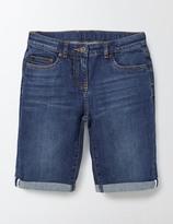 Boden Long Denim Shorts