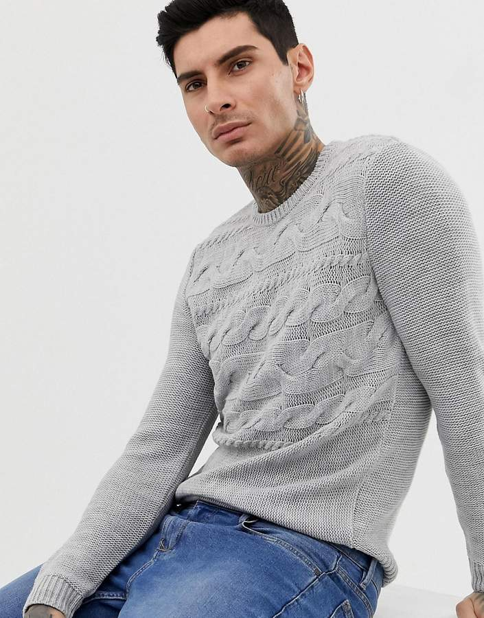Asos Design DESIGN knitted cable sweater