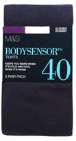 Marks and Spencer 3 Pair Pack 40 Denier Body SensorTM Opaque Tights