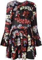 MSGM multiple prints ruffled dress - women - Cotton - 46