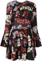MSGM multiple prints ruffled dress