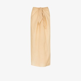 Anémone Knotted Midi Skirt