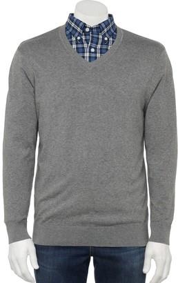 Croft & Barrow Big & Tall Classic-Fit Easy-Care Dress Shirt & Sweater