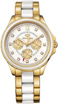 Juicy Couture Women&s Gwen Two-Tone Crystal Bracelet Watch