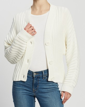 Atmos & Here Skyla Ribbed Button Knit Cardi