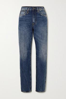 R 13 Axl High-rise Straight-leg Jeans - Mid denim