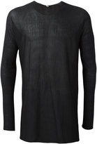 Label Under Construction crew neck jumper - men - Silk/Acetate/Wool - 48