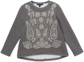 E-Land Kids Gray Paisley Hi-Low Top - Toddler & Girls