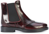 Tod's punch holes chelsea boots - women - Leather/rubber - 36