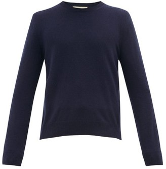 Gucci GG Embroidered Crew Neck Wool-blend Sweater - Navy