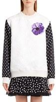 Dolce & Gabbana Women's Dot Sleeve Embellished Sweatshirt