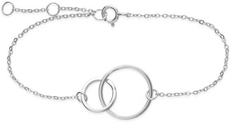 Sterling Forever Sterling Silver Interlocking Circles Bracelet