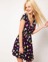 Asos Wrap Dress in Floral Print