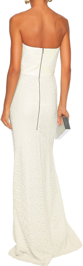Thumbnail for your product : Roland Mouret Strapless Cotton Guipure Lace Bridal Gown