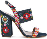 Tabitha Simmons Senna Festival embroidered sandals - women - Cotton/Leather - 35