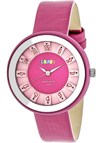 Crayo Pink Leather Celebration Watch