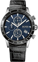 HUGO BOSS BOSS Rafale Chronograph & Date Crocodile-Embossed Leather-Strap Watch