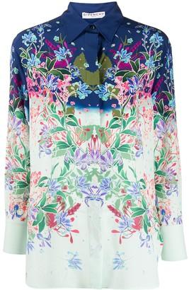 Givenchy Floral Print Silk Shirt