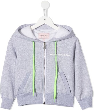 Natasha Zinko Kids Skoro Budu Doma crop hoodie