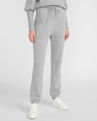 Express Super High Waisted Fleece Jogger Pant