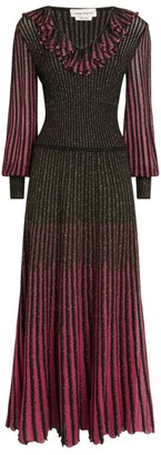 Alexander McQueen Lurex-Knitted Maxi Dress