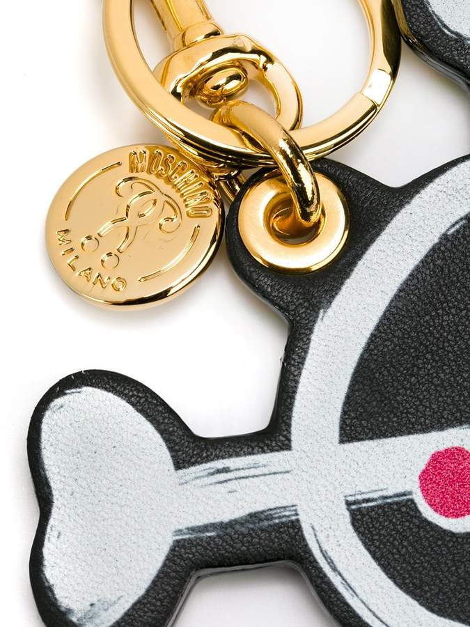 Moschino skull keychain