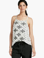 Lucky Brand Paisley Embroidered Tank