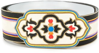 Etro Embroidery Suede Belt