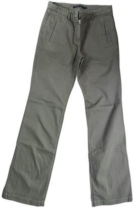 Sofie D'hoore Khaki Cotton Trousers for Women