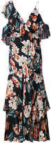 Nicholas Lola asymmetric floral-print dress