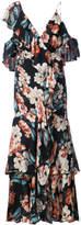 Nicholas Lola asymmetric floral-print dress
