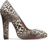 Alaia Leopard-print calf hair pumps