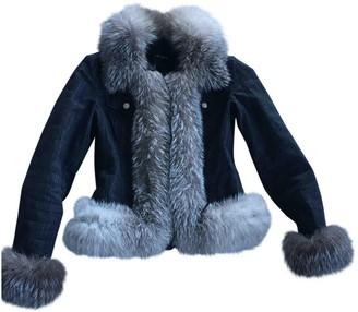 Escada Black Fox Jacket for Women