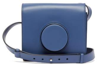 Lemaire Camera Cross-body Leather Bag - Womens - Blue