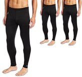 Duofold KMC2 Men's Mid Weight Varitherm Thermal Pant XL Black 3 Pack