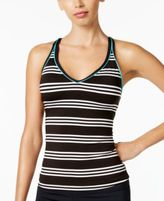 Jag Harbour Stripe Cross-Back Tankini Top