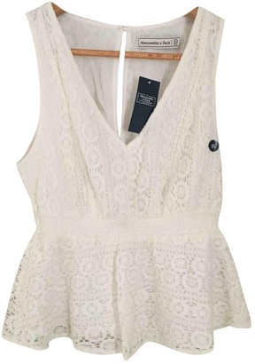 Abercrombie & Fitch Ecru Cotton Top for Women